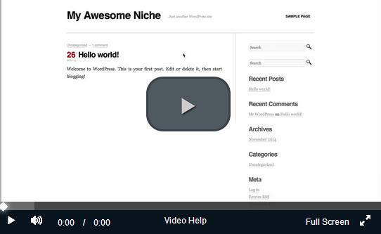 affiliate marketing training-create a website