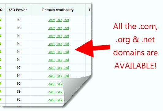 jaaxy is a domain name checker