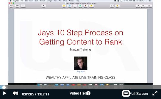 wealthy affiliate webinar training course