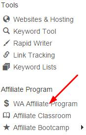 find affiliate link at Wealthy Affiliate