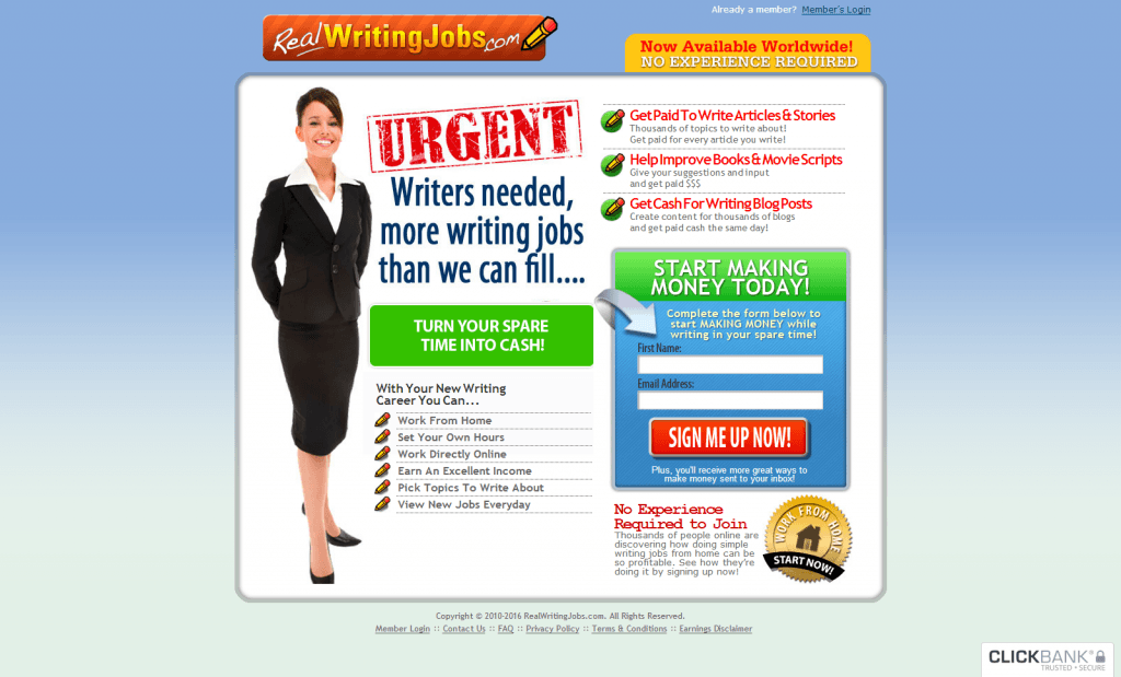 real writing jobs complaints Online job opportunities for home employment real work from home jobs search screened work opportunities for full and part time positions.