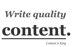 writing quality content for your website