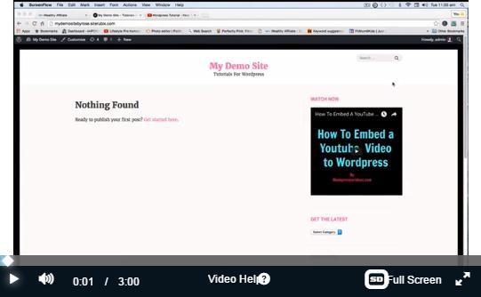 tutorial video of embedded in widget