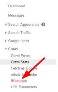 click sitemap button