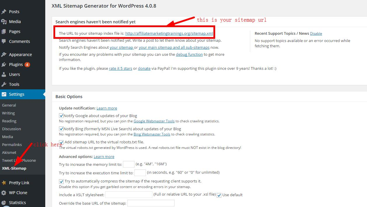 create and submit a wordpress xml sitemap to google webmaster tools