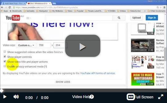 video tutorial of embedding code