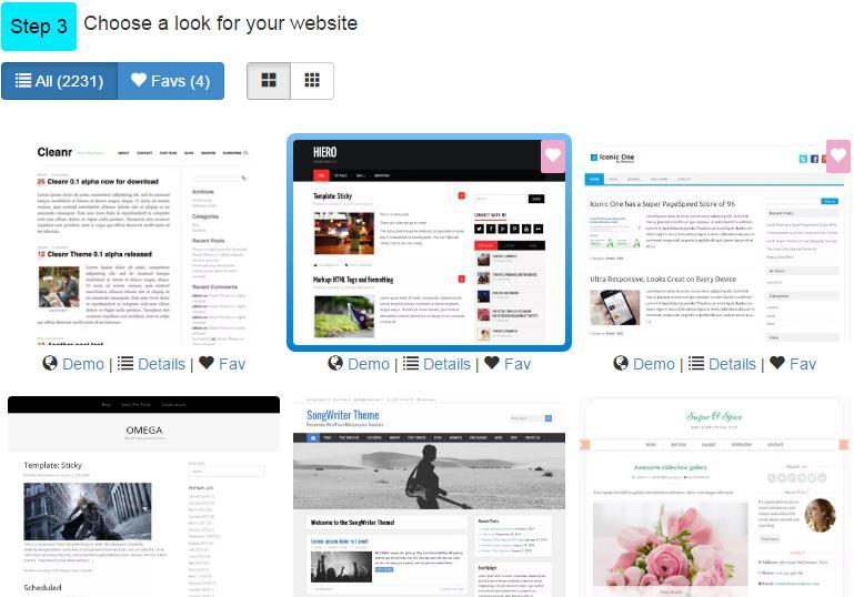 choose wordpress themes at siterubix
