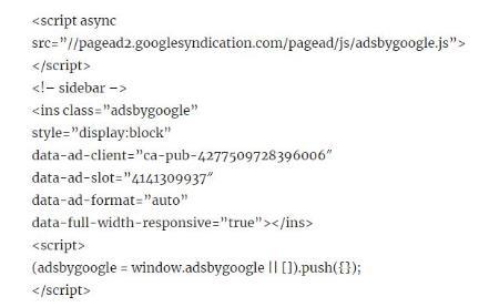 what is google adsense code