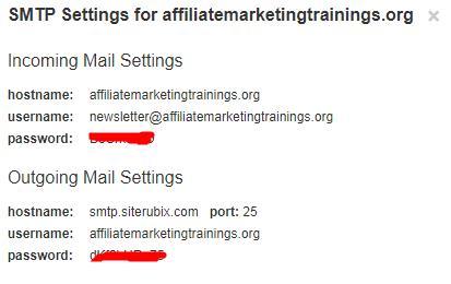 Email Smtp Server configure